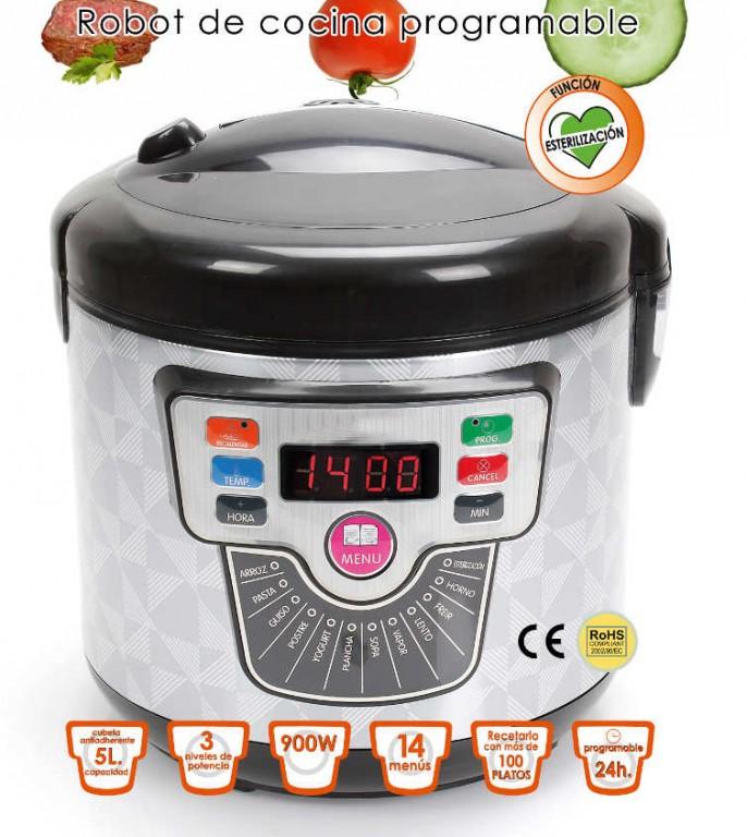 Olla programable delicook 5 l expoimport - Robots de cocina programables ...
