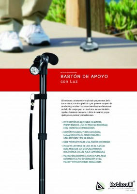 Bastón plegable Con Luz Led
