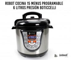 ROBOT COCINA 15 MENUS PROGRAMABLE 6 LITROS PRESIÓN BOTICCELLI