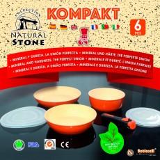 Bateria de Cocina 6 Pcs Kompakt Natural